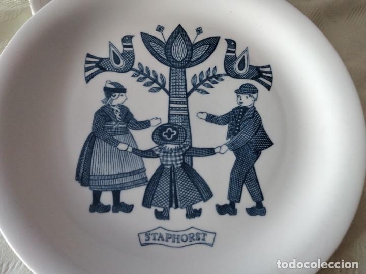 Antigüedades: Lote de 6 platos de postre de platos de porcelana made in holland Esfinge Maastricht - Foto 3 - 280584178