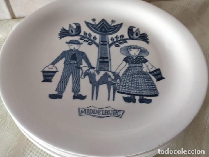 Antigüedades: Lote de 6 platos de postre de platos de porcelana made in holland Esfinge Maastricht - Foto 4 - 280584178