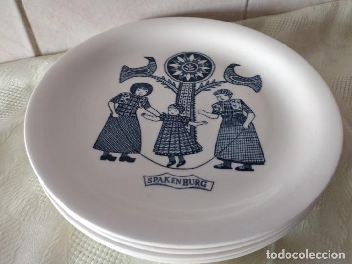 Antigüedades: Lote de 6 platos de postre de platos de porcelana made in holland Esfinge Maastricht - Foto 6 - 280584178