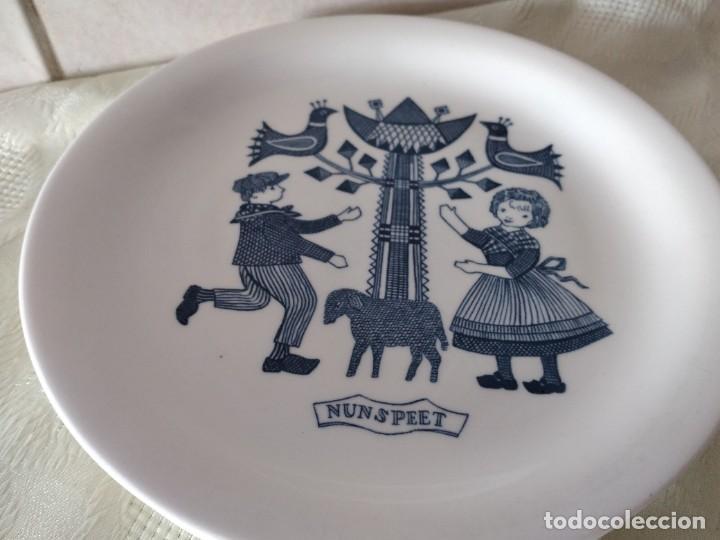 Antigüedades: Lote de 6 platos de postre de platos de porcelana made in holland Esfinge Maastricht - Foto 7 - 280584178