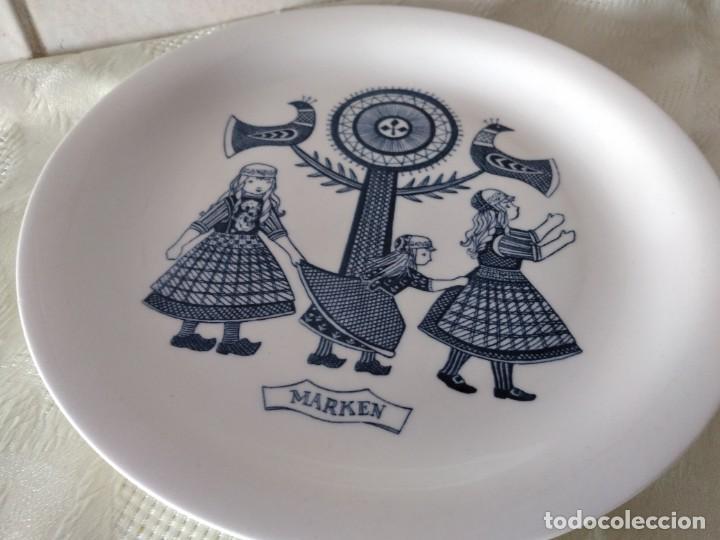 Antigüedades: Lote de 6 platos de postre de platos de porcelana made in holland Esfinge Maastricht - Foto 8 - 280584178
