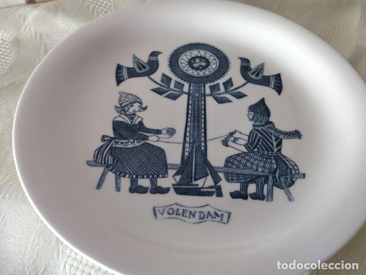 Antigüedades: Lote de 6 platos de postre de platos de porcelana made in holland Esfinge Maastricht - Foto 9 - 280584178