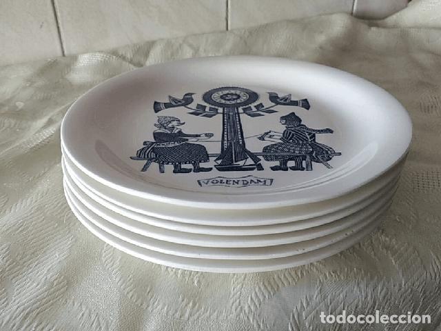 Antigüedades: Lote de 6 platos de postre de platos de porcelana made in holland Esfinge Maastricht - Foto 10 - 280584178