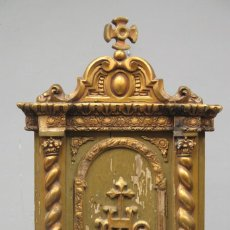 Oggetti Antichi: ANTIGUO SAGRARIO DE MADERA DORADA. HACIA 1880. Lote 280586968