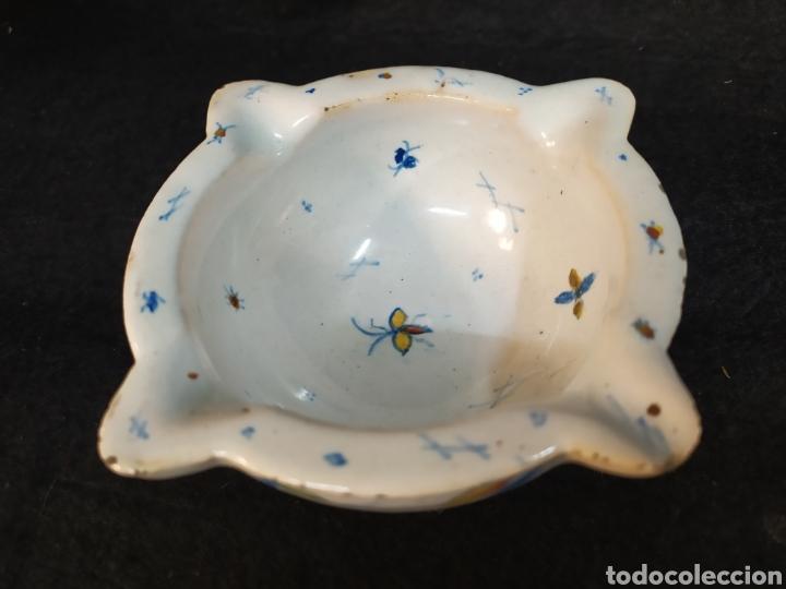 Antigüedades: Antiguo mortero cerámica ALCORA. Pieza única. - Foto 2 - 280714683