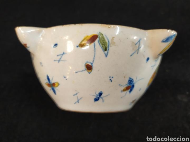 Antigüedades: Antiguo mortero cerámica ALCORA. Pieza única. - Foto 6 - 280714683