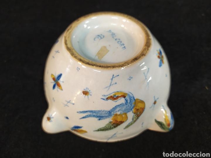 Antigüedades: Antiguo mortero cerámica ALCORA. Pieza única. - Foto 7 - 280714683