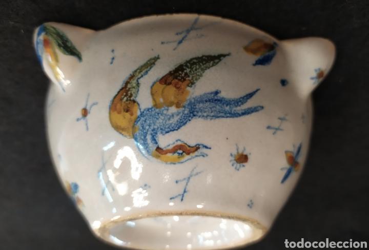 Antigüedades: Antiguo mortero cerámica ALCORA. Pieza única. - Foto 9 - 280714683
