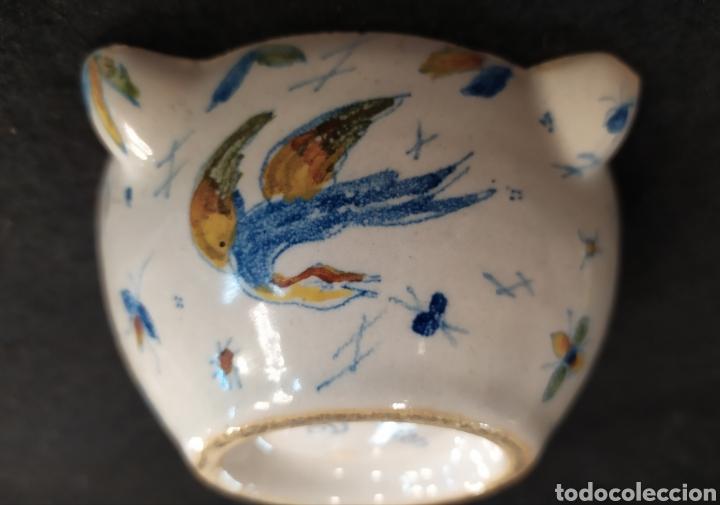 Antigüedades: Antiguo mortero cerámica ALCORA. Pieza única. - Foto 10 - 280714683