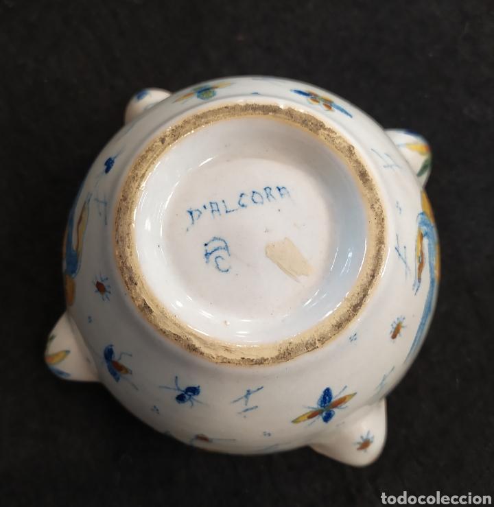 Antigüedades: Antiguo mortero cerámica ALCORA. Pieza única. - Foto 11 - 280714683