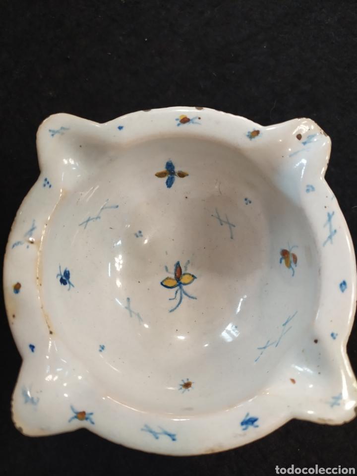 Antigüedades: Antiguo mortero cerámica ALCORA. Pieza única. - Foto 12 - 280714683