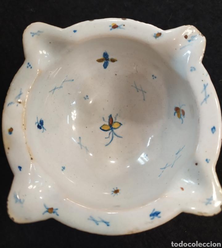Antigüedades: Antiguo mortero cerámica ALCORA. Pieza única. - Foto 13 - 280714683