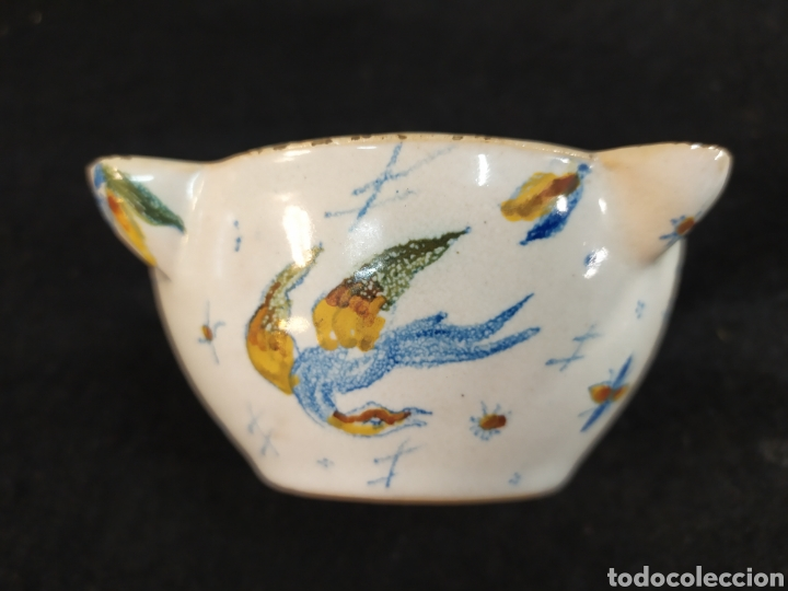ANTIGUO MORTERO CERÁMICA ALCORA. PIEZA ÚNICA. (Antigüedades - Porcelanas y Cerámicas - Alcora)