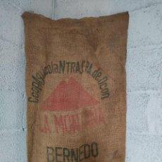 Antigüedades: SACO ARPILLERA 100X53 COOP.AGRICOLA NTRA SRA DE OCON BERNEDO ALAVA. Lote 280736853