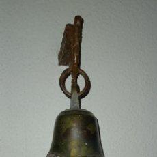 Antigüedades: CAMPANA DE BRONZE 12 CM ALTO 9 CM DIAMETRO. Lote 280744248