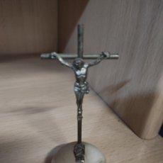 Antigüedades: CRUZ DE JESÚS. 11 CMS. METÁLICO. Lote 280787298