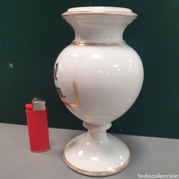 Antigüedades: Bote de Farmacia porcelana - Foto 3 - 280848303
