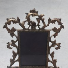 Antigüedades: MARCO DE BRONCE FINALES S.XIX 30X24CM. Lote 280931763