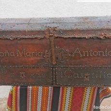 Antigüedades: ARCÓN DE 1750. DE M.ANTONIA DE ROXAS I CASTILLA. SEÑORA DE CÚLLAR BAZA.LEER BIEN EL ANUNCIO. Lote 281050413