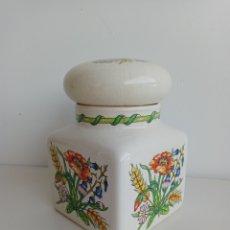 Antigüedades: BOTE DE PORCELANA TAUTON VALE. INGLATERRA. AÑOS 70.. Lote 281825078