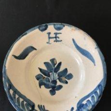 Antiquités: PLATO HONDO DE CERÁMICA ARAGONESA TERUEL VILLAFELICHE SG XVIII. Lote 281903773