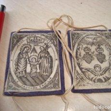 Antiquités: ESCAPULARIO SAGRADA FAMILIA. Lote 282008183