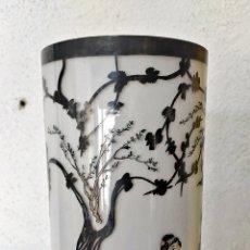 Antigüedades: ANTIGUO TUBO DE PORCELANA CHINA FAMILIA ROSA. Lote 282076708