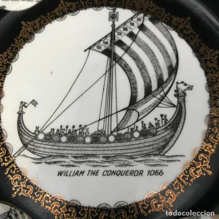 Antigüedades: Plato de porcelana para colgar 24 cm - Foto 2 - 282256618