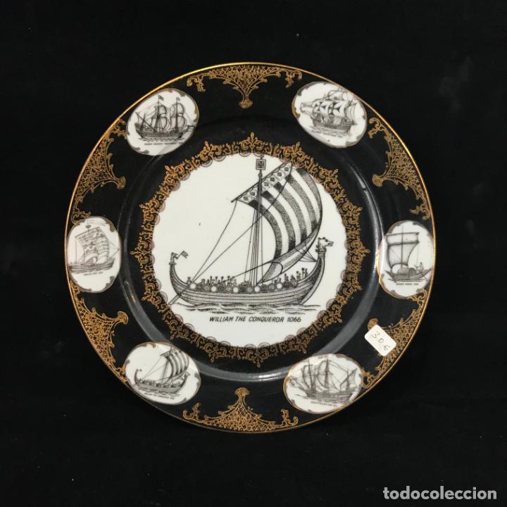 PLATO DE PORCELANA PARA COLGAR 24 CM (Antigüedades - Porcelanas y Cerámicas - Otras)
