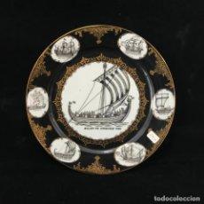 Antigüedades: PLATO DE PORCELANA PARA COLGAR 24 CM. Lote 282256618