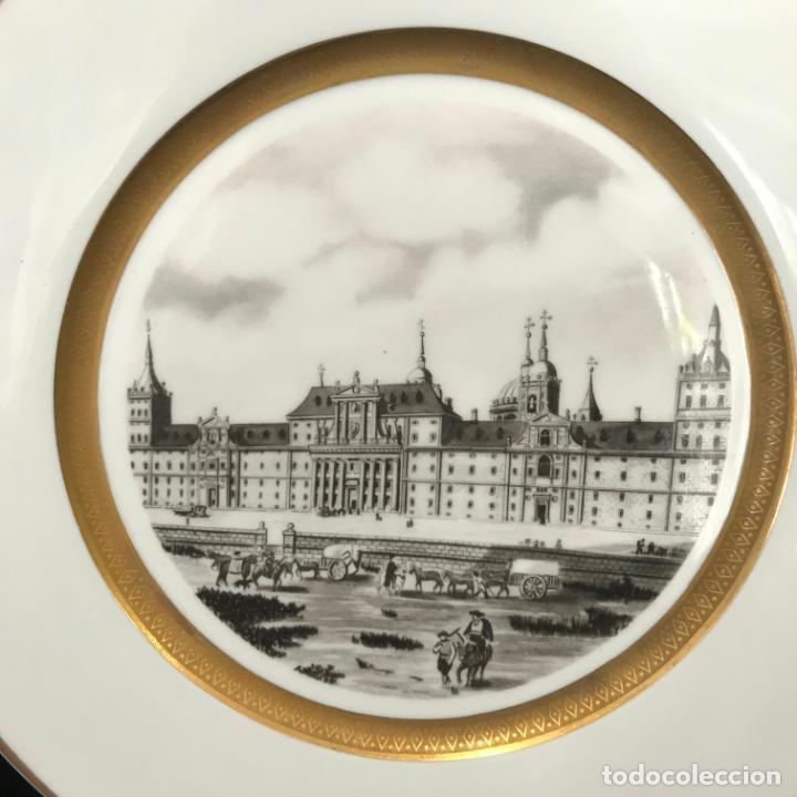 Antigüedades: Plato de porcelana Bidasoa. El Escorial 27,5 cm - Foto 2 - 282257603