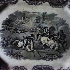 Antigüedades: BANDEJA OCTOGONAL EN LOZA DEL SIGLO XIX ES DE CARTAGENA, CONCRETAMENTE DE LAFABRICA DE LA AMISTAD. Lote 282768803