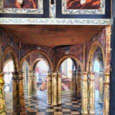 Antigüedades: BARGEÑO S.XVIII EN MARFIL, TARACEA Y CAREY. Lote 282896138