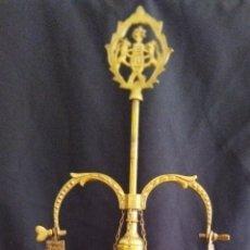 Antigüedades: ANTIGUO CANDELABRO DE ACEITE , VER DESCRIPCIÓN. Lote 282903648