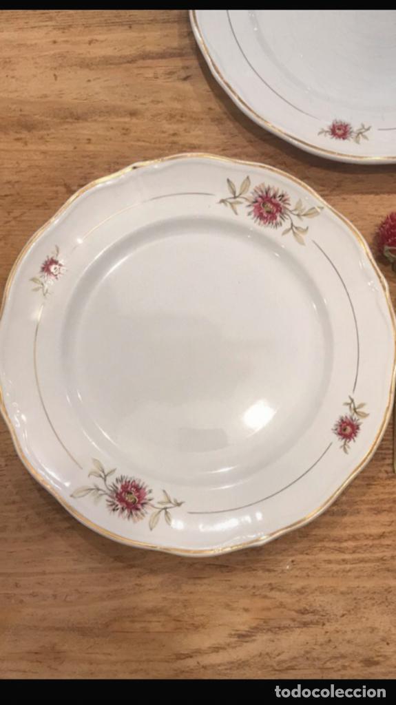 Antigüedades: Pareja de platos de postre de San Claudio de los años 50 - Foto 2 - 282936678