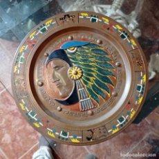 Antigüedades: PLATO COBRE ESMALTADO MEXICANO. Lote 282949488