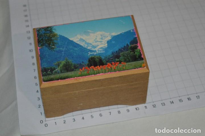 Antigüedades: Antigua y preciosa caja de música / Marca MAPSA Suisse - Funcionando perfectamente - Original ¡Mira! - Foto 2 - 282954543