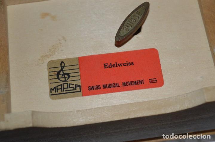 Antigüedades: Antigua y preciosa caja de música / Marca MAPSA Suisse - Funcionando perfectamente - Original ¡Mira! - Foto 6 - 282954543