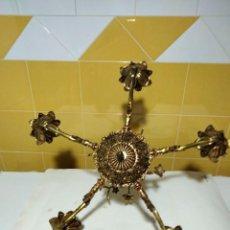 Antigüedades: PRECIOSA LAMPARA DE BRONCE. Lote 282960683
