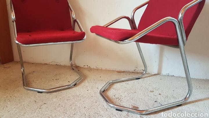 Antigüedades: Pareja de sillas de diseño - Foto 2 - 283018963