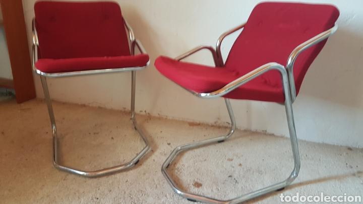 Antigüedades: Pareja de sillas de diseño - Foto 2 - 283019588
