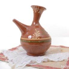 Antigüedades: PORRÓN GRANDE DE CERÁMICA MARRÓN, DECORACIÓN RÚSTICA. Lote 283101803