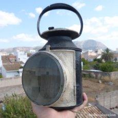 Antigüedades: ANTIGUO FAROL DE SEÑALES FERROCARRIL, LOCOMOTORA, ELECTRIFICADO, 30X20X13CM, 1775GR. Lote 283166228