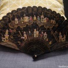 Antigüedades: ABANICO BARAJA LACADO CHINO. Lote 283207448