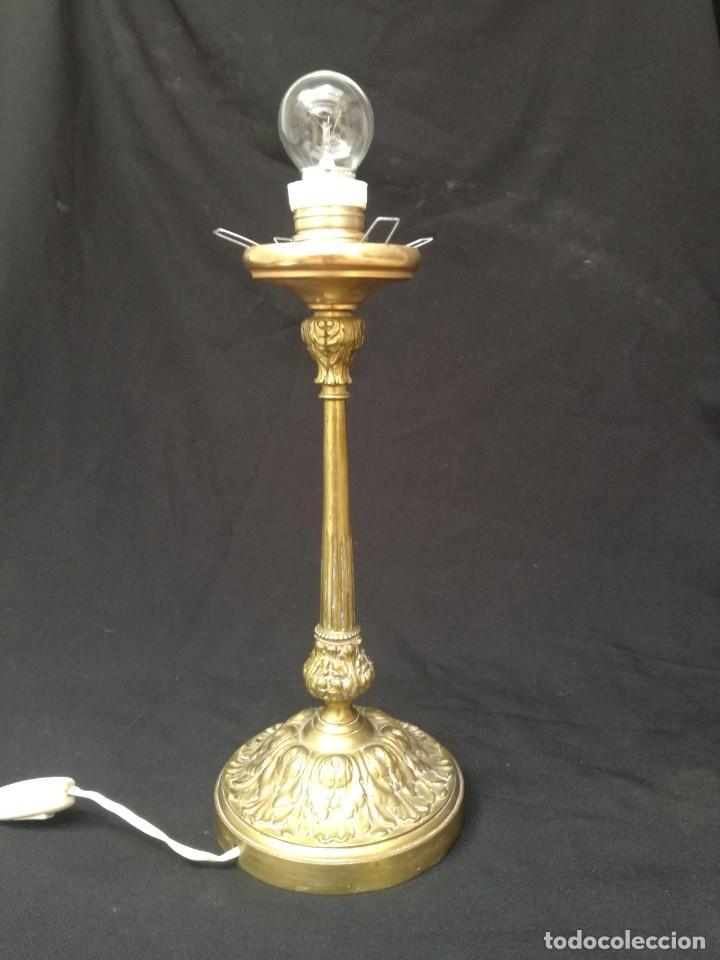 LÁMPARA DE MESA BRONCE (Antigüedades - Iluminación - Lámparas Antiguas)