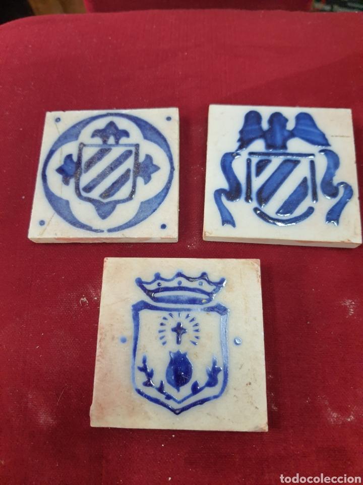 PEQUEÑOS AZULEJOS ESMALTADOS (Antigüedades - Varios)