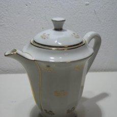 Antiquités: TETERA, CAFETERA DE PORCELANA FRANCESA. PASTA DE LIMOGES. Lote 283289338