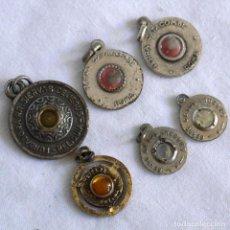 Antigüedades: 6 MEDALLAS CON RELIQUIAS. Lote 283335613