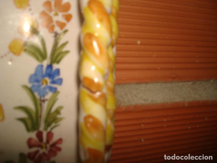 Antigüedades: antigua benditera lario murcia pintada a mano - Foto 5 - 283461213