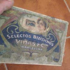 Antigüedades: ANTIGUA CAJA METÁLICA BARCELONA. Lote 283651113